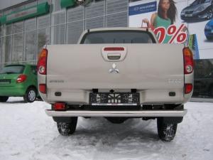 Mitsubishi L200  2010 защита заднего бампера  d76  MLZ-001128